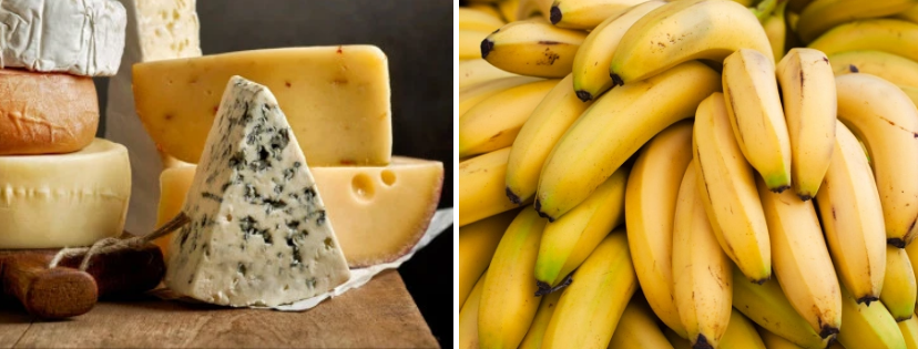 News & prioslav.ru: Полезные свойства популярных продуктов - Сыр / Бананы