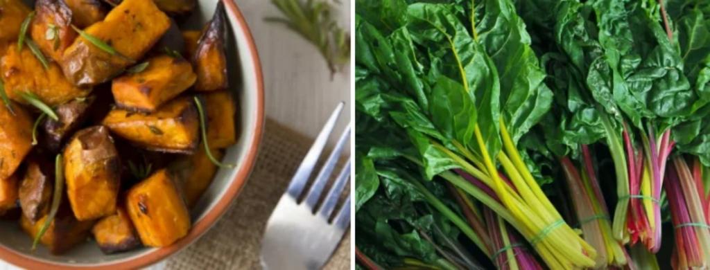 News @ prioslav.ru: Продукты для похудения:  Сладкий картофель /  Радужный мангольд